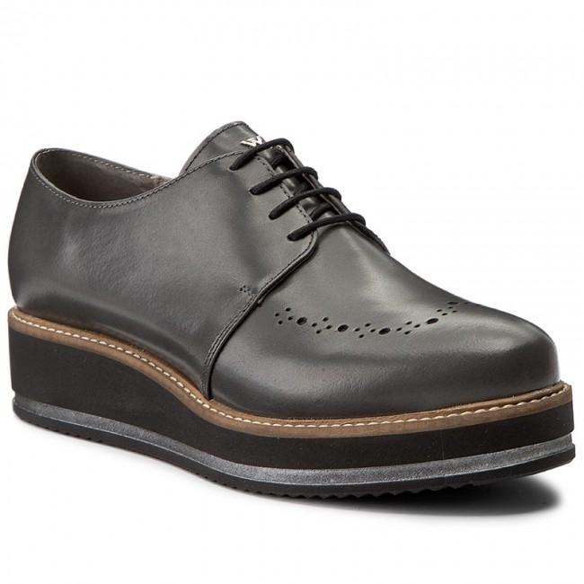Oxford cipők CLARKS Sharon Crystal 261400714 Pewter