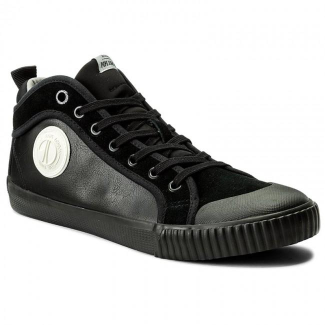 Tornacipő PEPE JEANS Industry Sock PMS30373 Black 999