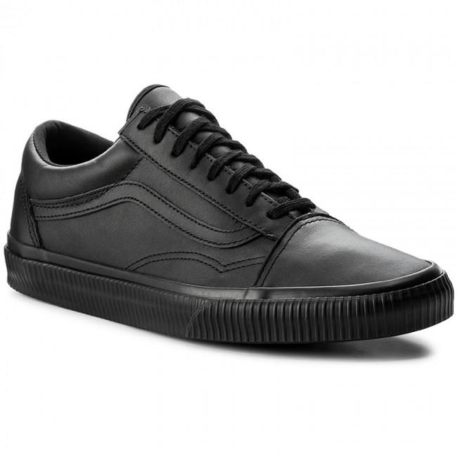 Vans Old Skool Black Suede Canvas Mens Skate Shoes