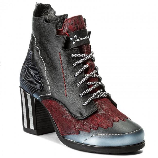 Magasított cipő MACIEJKA 03190 0100 3 Fekete