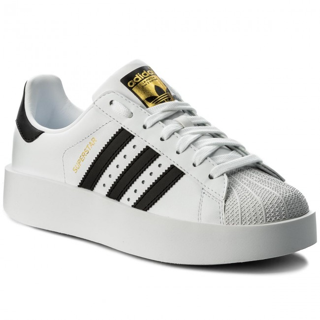 Cipő adidas Superstar Bold W BA7666 FtwwhtCblackGoldmt