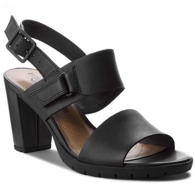 Szandál CLARKS Un Adorn Calm 261417124 Black Leather