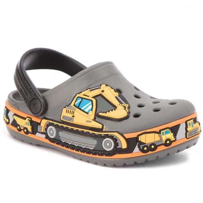 Crocs szürke fiú papucs Crocband Fun Lab Graphic Gyerek