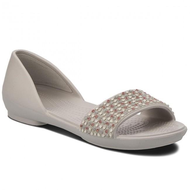 Szandál CROCS Lina Embellished Dorsay 204361 Silver