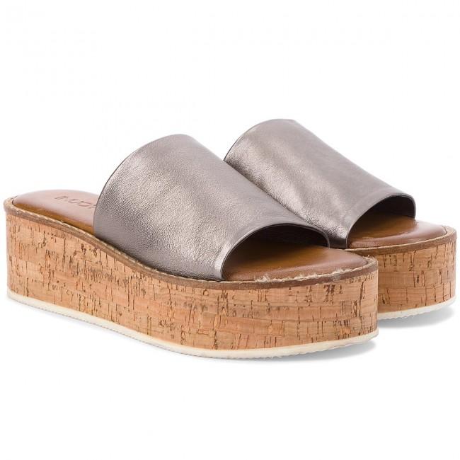 Papucs INUOVO - 8008 Pewter - Magasított sarkú cipők - Papucsok és szandálok - Női z5TPHJQE