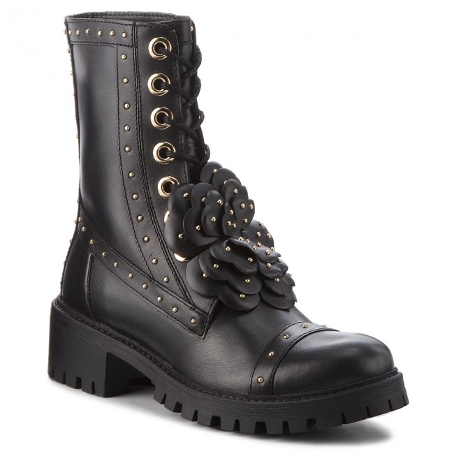 Magasított cipő TWINSET Amfibio CA8PKY Nero 00006