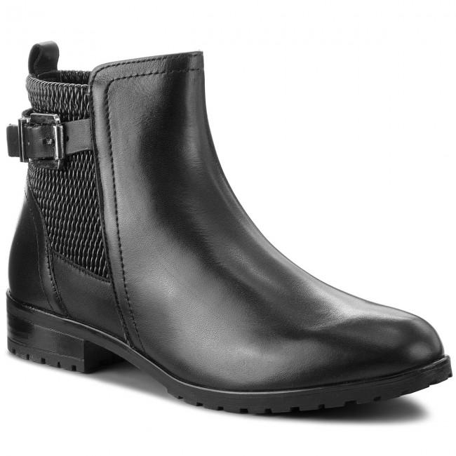 Magasított cipő CAPRICE 9 25350 21 Blk Elast.Comb 045