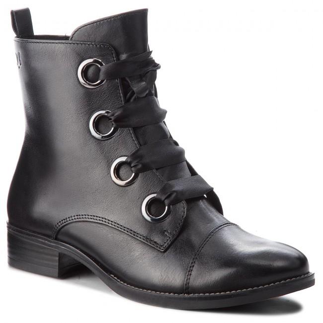Magasított cipő CAPRICE 9 25105 21 Black Nappa 022
