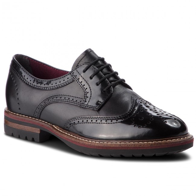 Oxford cipők TAMARIS 1 23736 31 Black 001