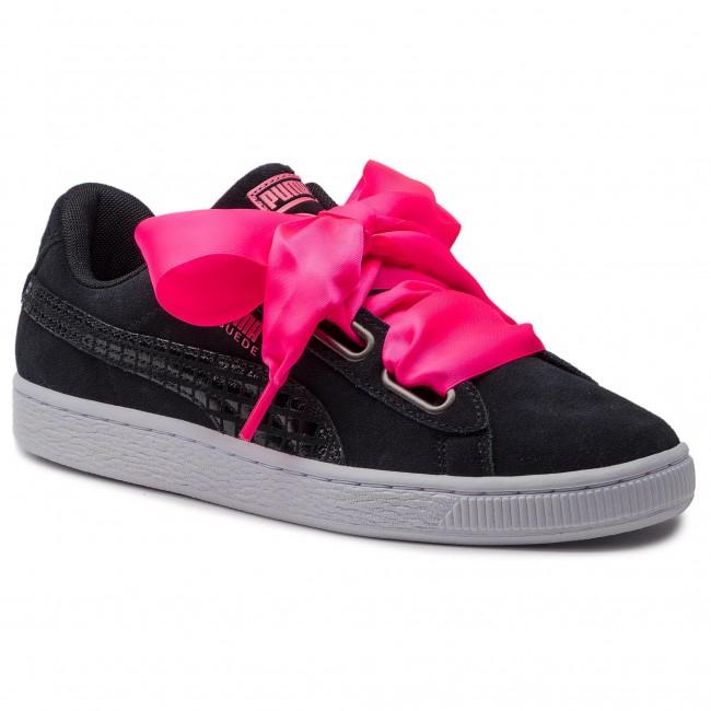 Sportcipő PUMA Suede Heart Street 2 Wn's 366780 01 Puma BlackPuma Black