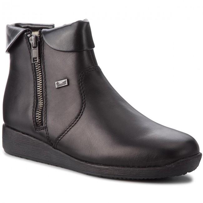 Magasított cipő RIEKER 94061 00 Schwarz