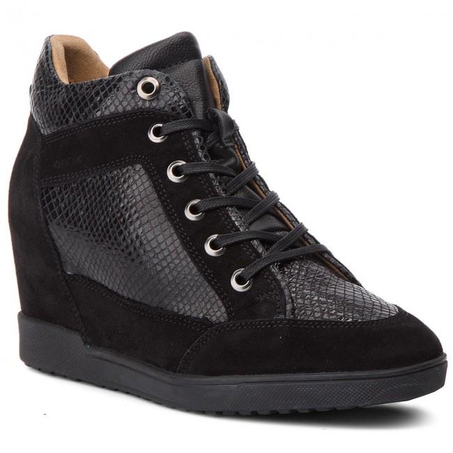 Sportcipő GEOX D Carum C D84ASC 02241 C9999 Black