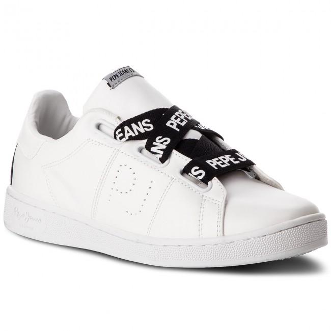 Sportcipő PEPE JEANS - Brompton Laces PLS30735 White 800
