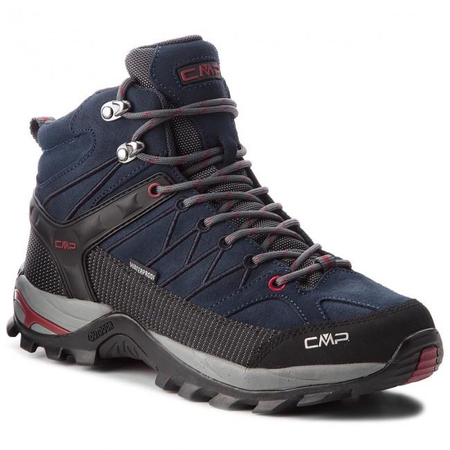 Bakancs CMP - Rigel Mid Trekking Shoes Wp 3Q12947 Asphalt/Syrah 62BN