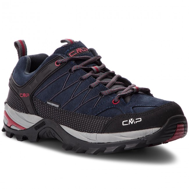 Bakancs CMP - Rigel Low Trekking Shoes Wp 3Q13247 Asphalt/Syrah 62BN