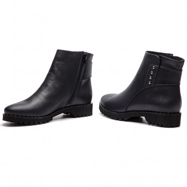 Magasított cipő SAGAN 3281 Granatowy Lico