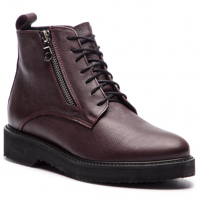Magasított cipő SAGAN 3268 Bordowy Lico