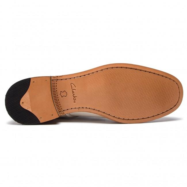 Gyári Ár Női Cipők Oxford cipők CLARKS - Ellis Scarlett 261418854 White Leather - Oxford - Félcipő - Női VFnEc6El