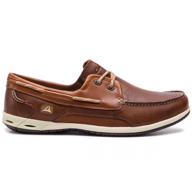 Mokaszin CLARKS Orson Harbour 203575817 Brown Leather