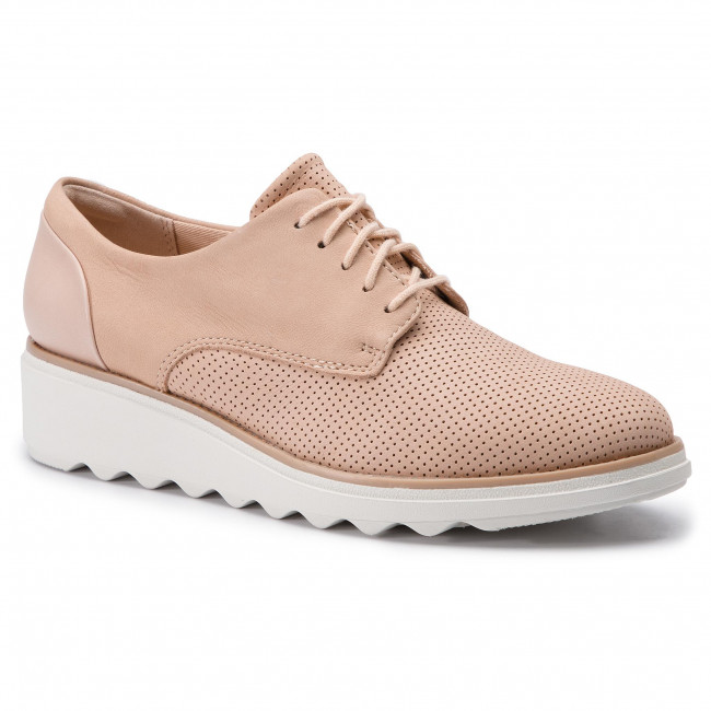 Oxford cipők CLARKS Sharon Crystal 261406424 Blush Nubuck