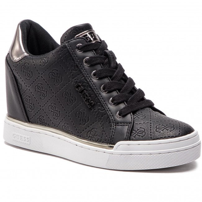 Sportcipő GUESS - Flowurs FL5FWU FAL12 BLACK - Sneakers - Félcipő - Női IkLzSCUm