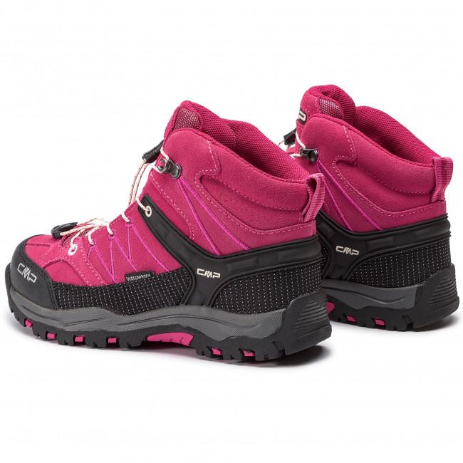 Bakancs CMP Kids Rigel Mid Trekking Shoes Wp 3Q12944J GeraneoOff White 10HC