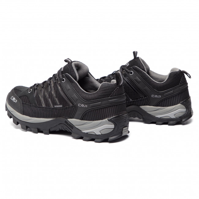Bakancs CMP - Rigel Low Trekking Shoes Wp 3Q54457 Nero/Grey 73UC - Túracipők - Félcipő - Férfi