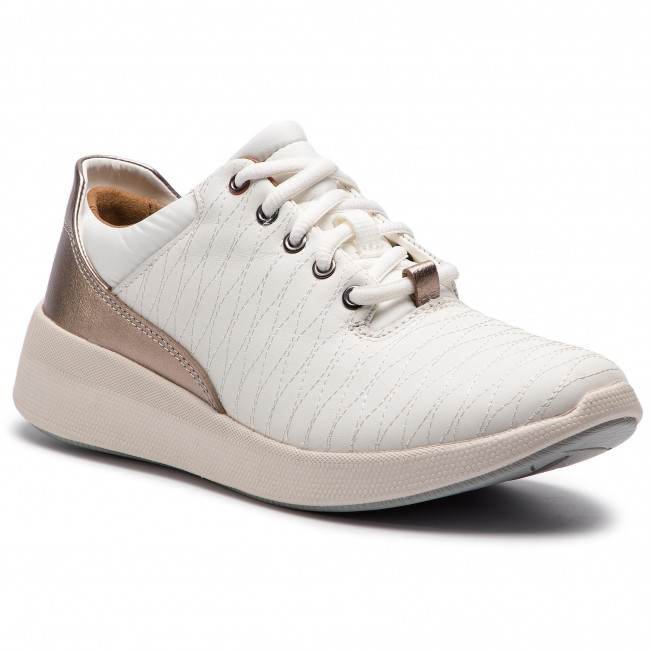 Sportcipő CLARKS Un Alfresco Lo 261357104 White Leather