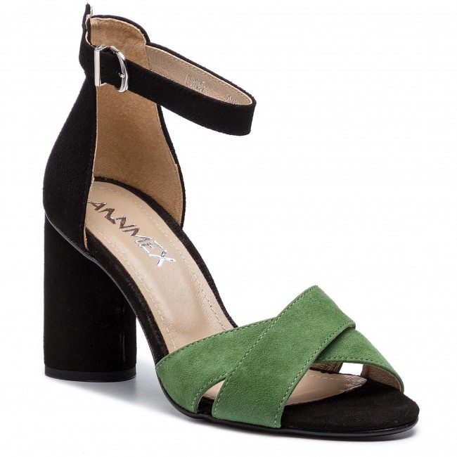 Szandál ANN MEX 0222 13WJ 01W Fekete Zöld
