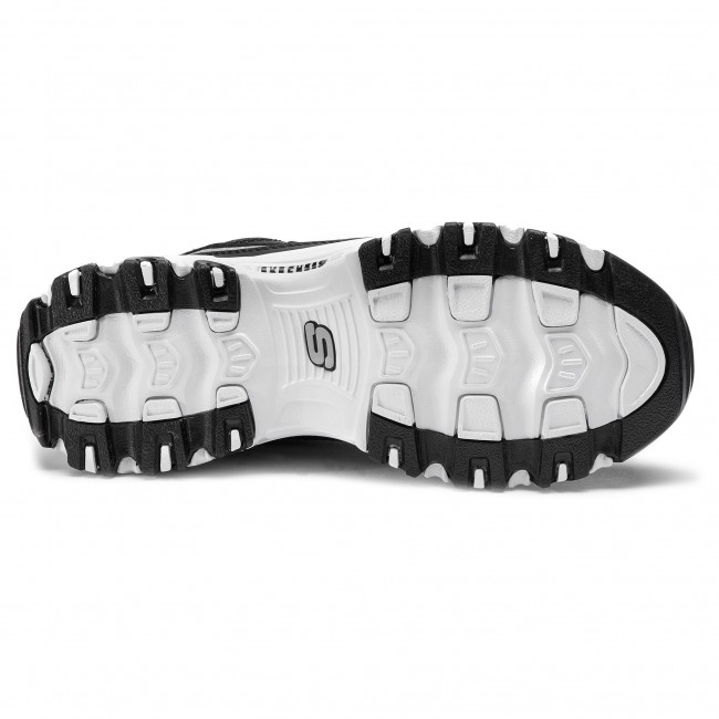 Sportcipő SKECHERS - D'lites Now&Then 11923/BKSL Black/Silver - Sneakers - Félcipő - Női