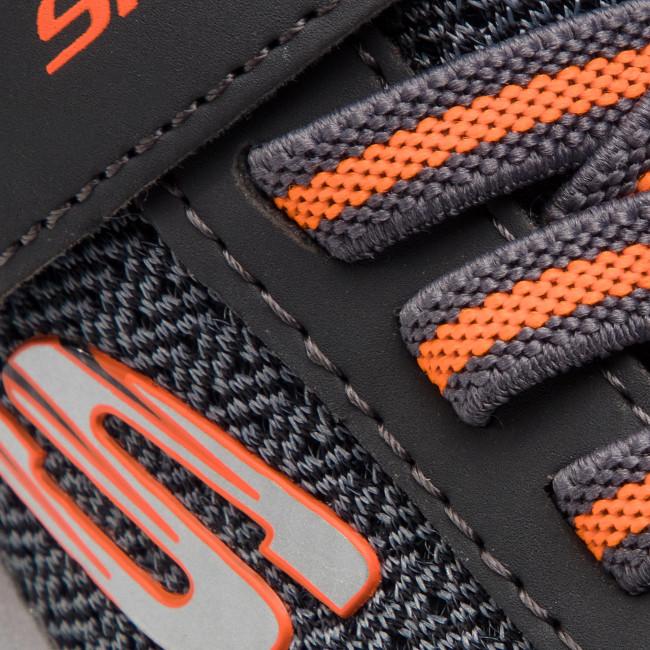 Cipő SKECHERS - Ultra Torque 97770L/CCOR Charcoal/Orange - Tépőzáras - Félcipő - Kisfiú - Gyermek