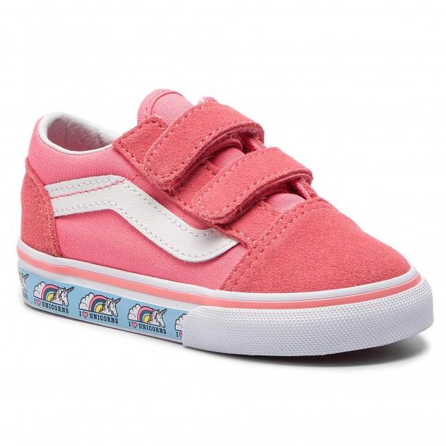 Teniszcipő VANS Old Skool V VN0A344KVE01 (Unicorn) Strawberry Pink