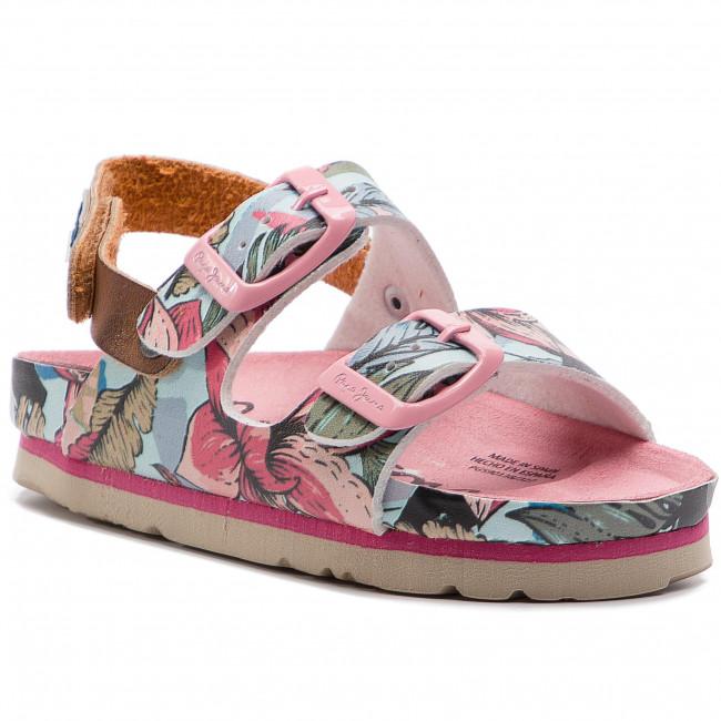 Szandál PEPE JEANS Bio Tropic Kids PGS90138 Factory Pink 327