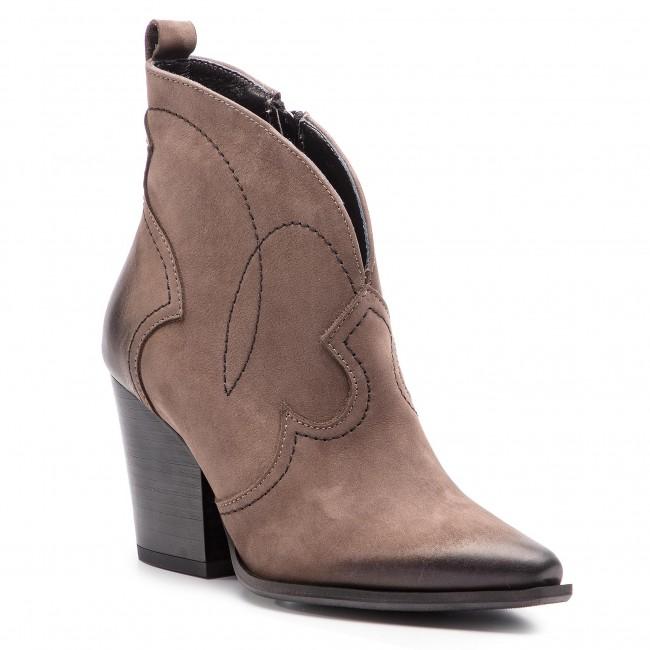 Magasított cipő R.POLAŃSKI - 0987 Nubuk Taupe