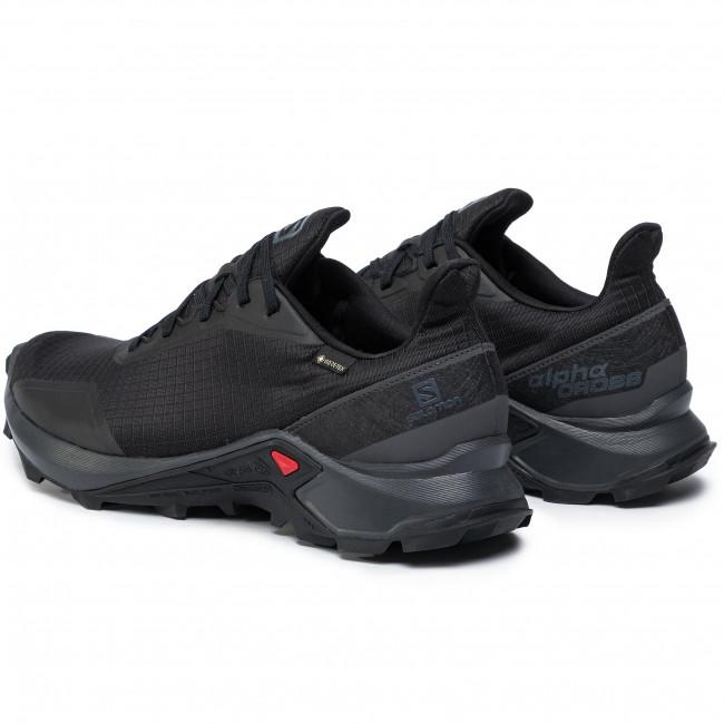 Cipő SALOMON Alphacross Gtx GORE TEX 408051 32 V0 BlackEbonyBlack