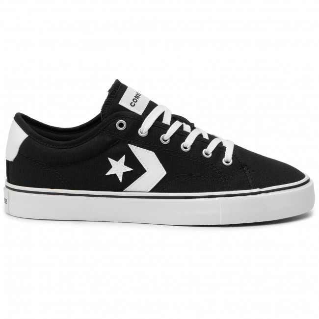 Teniszcipő CONVERSE - Star Replay Ox 163214C Black/White/White - Tornacipők - Félcipő - Férfi