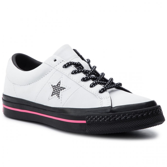 Teniszcipő CONVERSE One Star Ox 164223C WhiteBlackRacer Pink