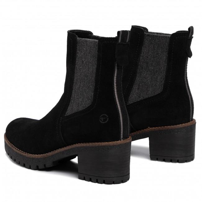 Magasított cipő TAMARIS 1 25936 33 Black 001