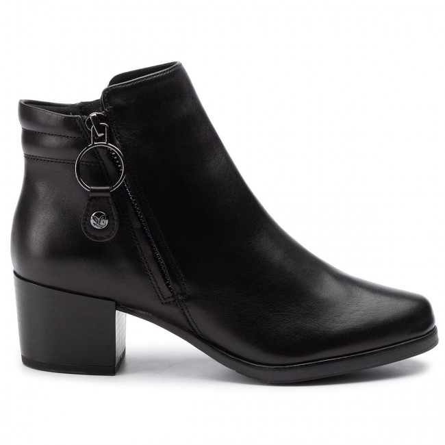 Magasított cipő CAPRICE 9 25322 23 Black Nappa 022