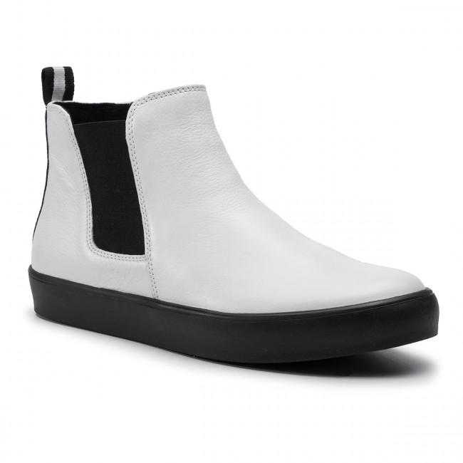 Magasított cipő CAPRICE 9 25454 23 White Nappa 102