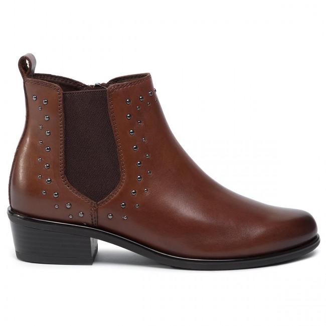 Magasított cipő CAPRICE - 9-25329-23 Dk Brown Nappa 337 - Bokacsizmák - Csizmák és egyebek - Női