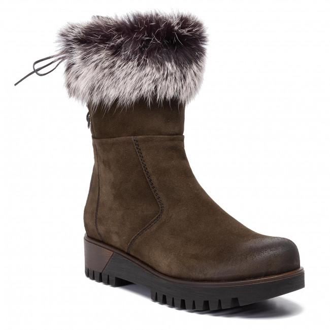 Magasított cipő POLLONUS 5 1001 022 Zielony Welur