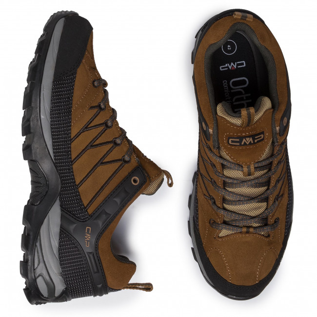 Bakancs CMP - Rigel Low Trekking Shoes Wp 3Q13247 Sanape/Arabica 03PD - Túracipők - Félcipő - Férfi