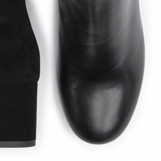 Magasított cipő SAGAN - 3870 Czarny Lico Welur - Bokacsizmák - Csizmák és egyebek - Női