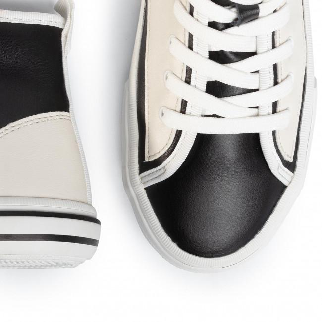 Nagy Kedvezmény Férfi Cipők Sportcipő GUESS - Nettuno Hi FM6NTH LEA12 BLKWH - Sneakers - Félcipő - Férfi 7eZzEMTB