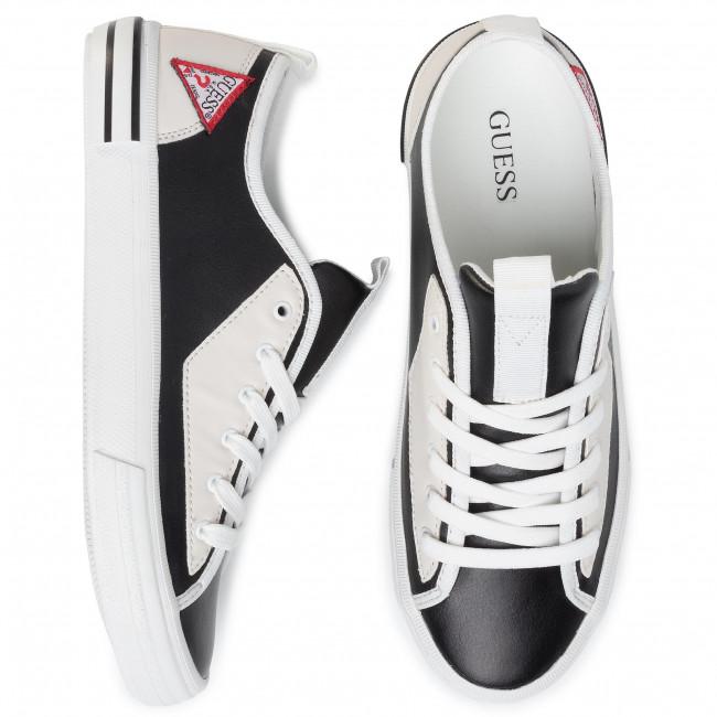 Új Stílus Férfi Cipők Teniszcipő GUESS - Nettuno Low FM6NTL LEA12 BLKWH  - Tornacipők - Félcipő - Férfi 44AZKbZB