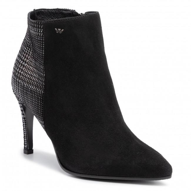 Magasított cipő WOJAS - 9581-61 Czarny/Multikolor