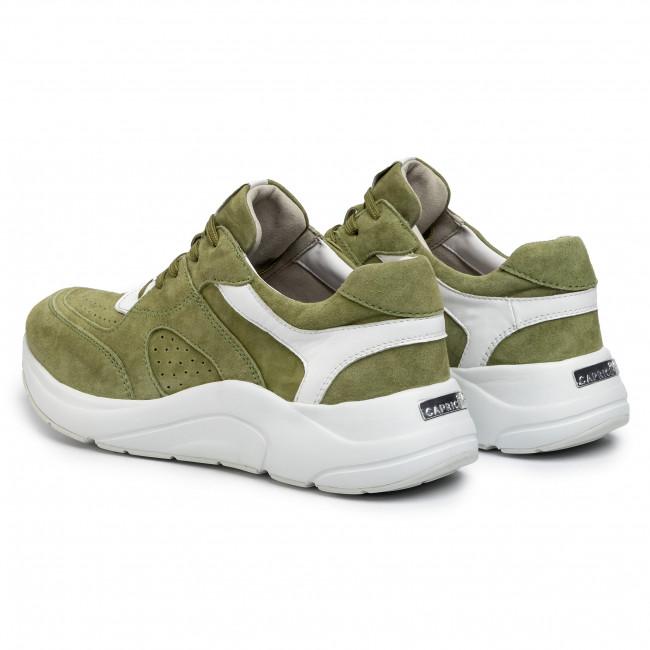 Sportcipő CAPRICE - 9-23501-24 Moss White 711 - Sneakers - Félcipő - Női