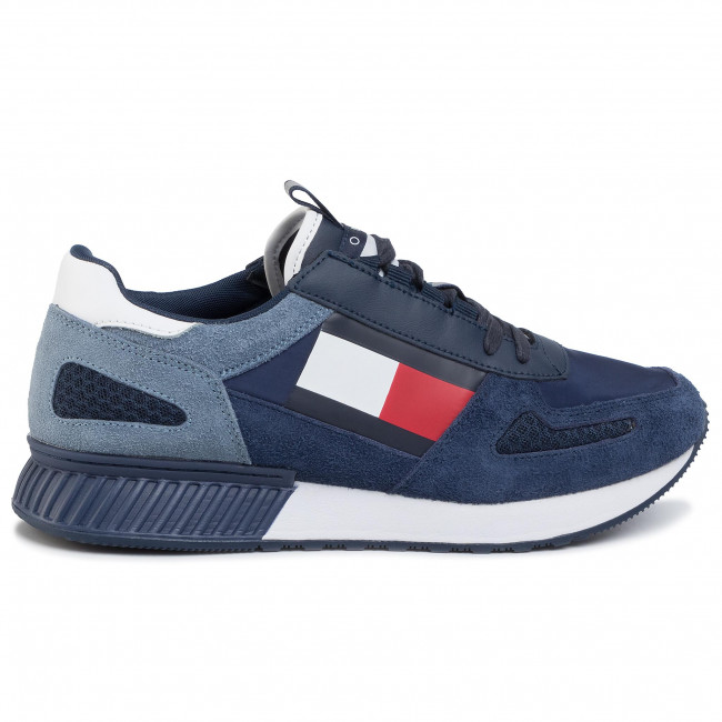 Tommy Hilfiger kék férfi bôr tornacipő Lifestyle Tommy Jeans