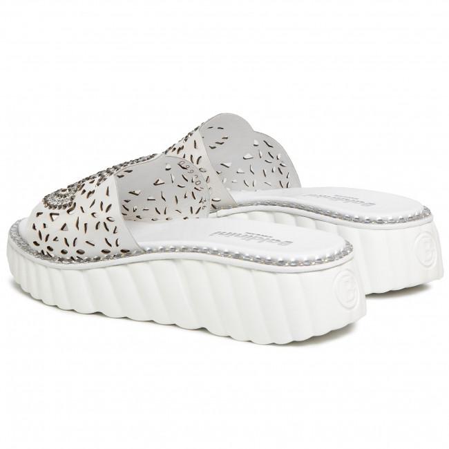 Papucs BALDININI - 099906XNAPP909090XXX  Bianco - Magasított sarkú cipők - Papucsok és szandálok - Női